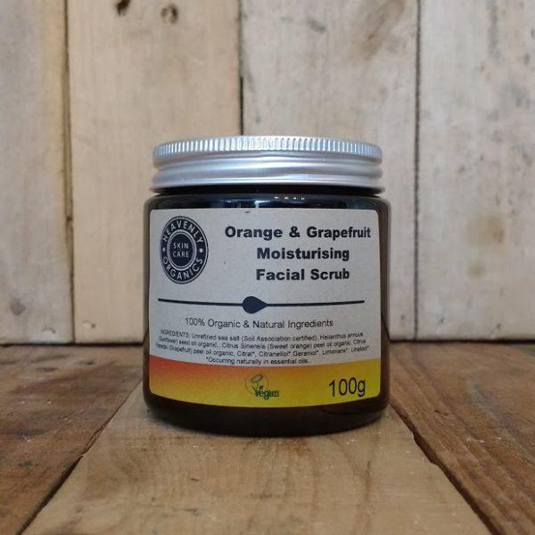 Heavenly Organics Skin Care Orange & Grapefruit Moisturising Facial Scrub 100g