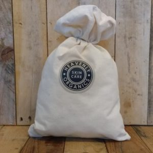 Heavenly Organics Skin Care Organic Cotton Drawstring Gift Bag