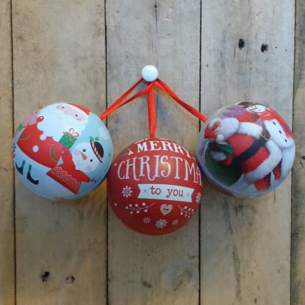 Heavenly Organics Skin Care Christmas Bauble Gift Set containing one hand balm and one lip balm